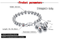 Vendita calda!!! sterling Silver Cuore Braccialetto Braccialetto Delle Signore Delle donne rotonde braccialetto 925 Gioielli in argento regalo del Burlone di modo
