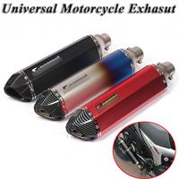 470mm Motorcycle Exhaust Pipe Escape Universal Modified Scooter Muffler DB Killer Silencer For Z250 MT 03 ATV Dirt Bike Dirt Bik