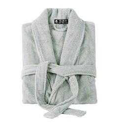 Winter Mannen gewaad Dikke Lange Witte Badjas mannen Katoen gewaad Zachte Handdoek fleece plus size XXL mannelijke nachtkleding nachtjapon Kimono gewaad
