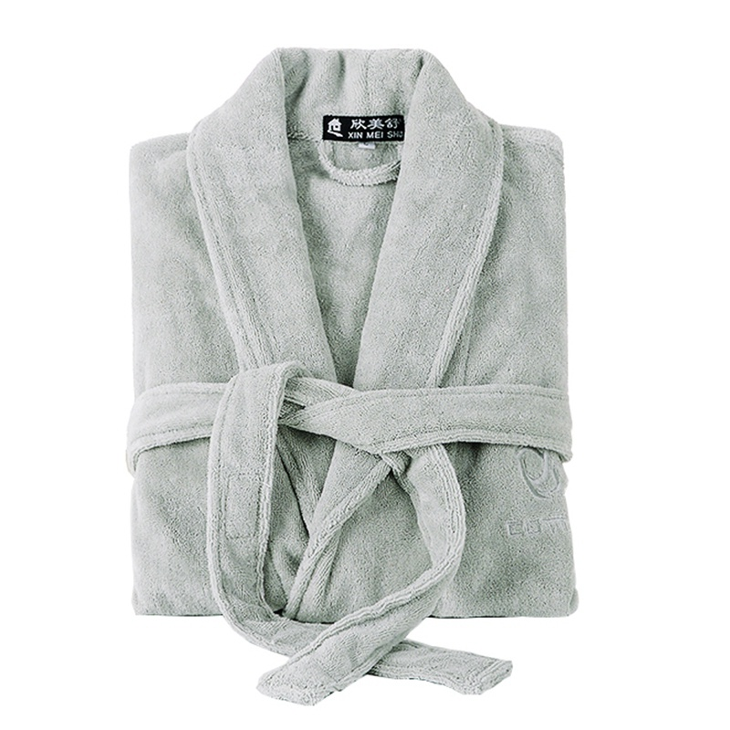 Winter Men' Robe Thick Long White Bathrobe Men Cotton Robe Soft Towel Fleece Plus Size XXL Male Sleepwear Nightgown Kimono Robe