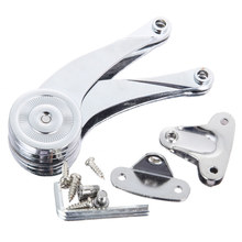 Mayitr Zinc Alloy Stop Hinges Kitchen Cabinet Door Adjustable Polish Hinge Furniture Lift Up Flap Stay Support For Home Hardware