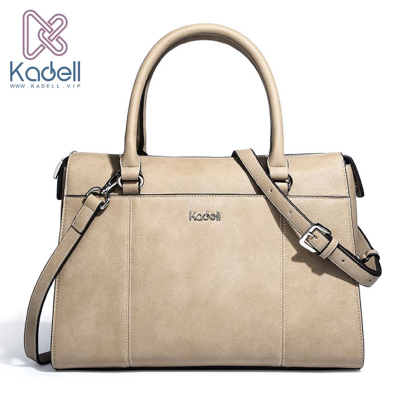 Kadell Brand Design Handbag Women Casual Tote Bag Female Solid Boston Bag Small Shoulder Messenger Bags Office Ladie Briefcase ladylike women s tote bag with solid color and daisy embossing design