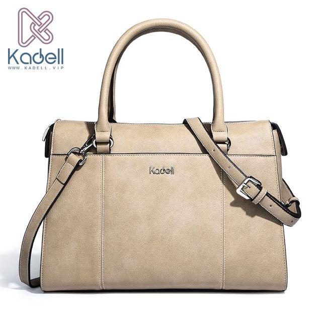 Kadell бренд Дизайн сумки Для женщин Повседневное сумка женский сплошной Бостон маленькая сумка на плечо Курьерские сумки офис женская верхняя Портфели