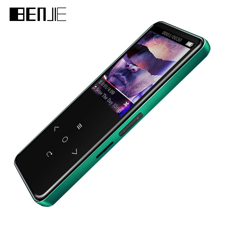 BENJIE New Bluetooth MP3 Player 8GB A20 VINtek Capacitive Touch MP3 Music Palyers 2.5D Surface CSR Recorder FM Radio Ebook 2018