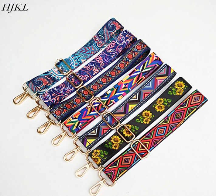 Sacos Cinto Acessórios Cinta de Nylon Colorido para As Mulheres Rainbow HJKL Cabide Bolsa de Ombro Ajustável Cintas Decorativo saco cadeia