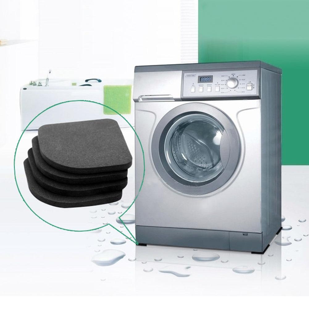 Dropship 4Pcs Square Refrigerator Mute Mat Washing Machine Anti Vibration Pad Shock Pads Floor Protection Pads  TSLM1