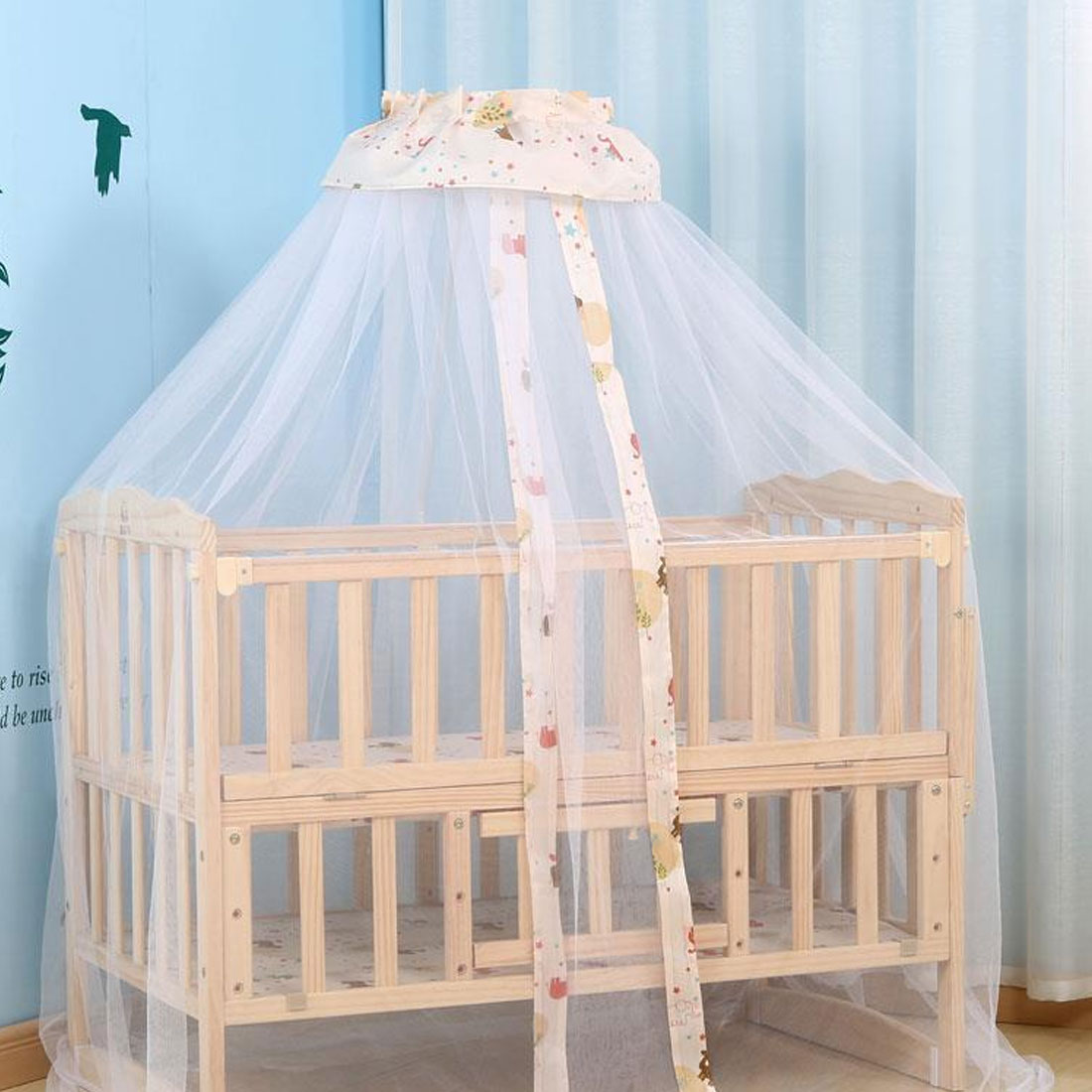 Baby crib youth bed - Kids Tent General Door Baby Mosquito Net Dome Palace Ground Bed Folding Baby Crib Mosquito Nets Canopies In Cot Netting