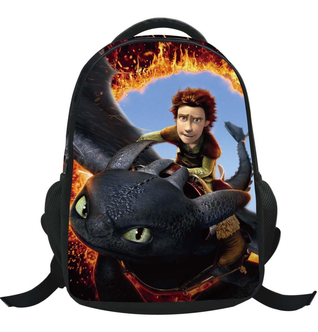product 2015 How to Train Your Dragon cartoon backpack children schoolbag school book bag kid shoulder bags nightfury boy bag
