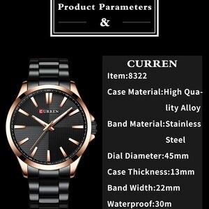 Image 2 - Curren Horloges Mannen Mode Horloge 2019 Luxe Rvs Band Reloj Horloge Business Klok Waterdicht Relogio Masculino