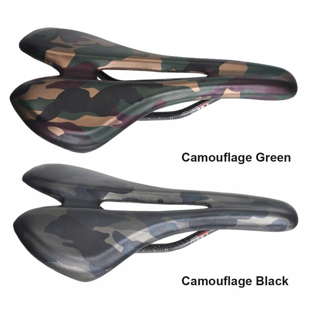 Велосипед Toseek седло из углеродного волокна дорожный легкий переднее сиденье камуфляж зеленый черный велосипедные части велосипед полый Противоскользящий - 6