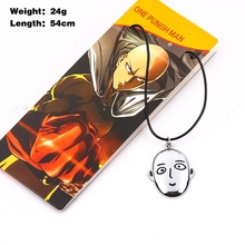 Cartoon Anime action figure model toy One punch man face expression zinc alloy pendant necklace fans collectible gift