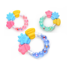 Baby Teething Ring Teether Circle shape infant Comforting Toys Safety silicone baby Rattles Biting Teethers Newborns
