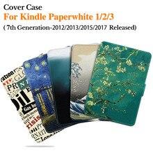 BOZHUORUI Kindle Paperwhite için 6th gen 2015 ve 7th gen 2017 (Model EY21/DP75SDI) manyetik akıllı kapak otomatik uyku/uyandırma ile