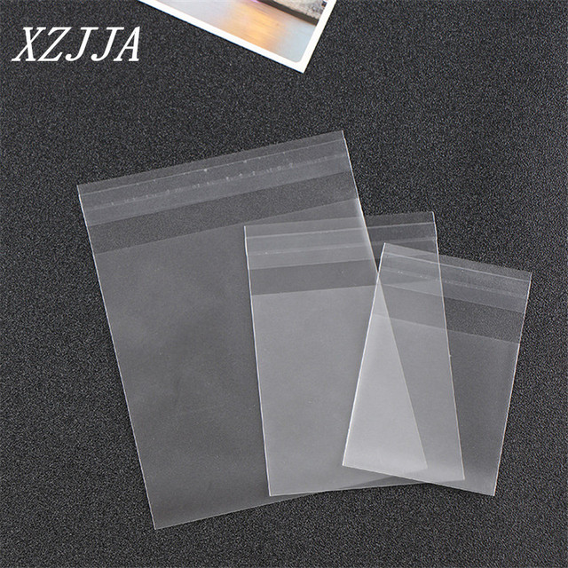 100pcs small size cute transparent Candy cookie Bags Wedding Birthday Party Craft Self-adhesive Plastic Biscuit Packaging Bag