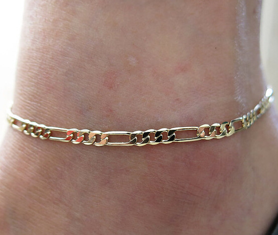 Anklets Womans Fashion 2017 Summer Jewelry Silver Gold Women Girl Leg Ankle Chain Barefoot Fashion Foot Anklet Jewelry Chain