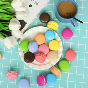 Image 2 - 2pcs/lot 5cm Macarons Simulated Bread INS Photography Props for Foods Baking photography Accessories Background DIY Decoration