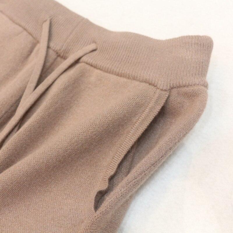 Chandail Pantalon Gamme Vente Chaud En Nouveau Deux Haut 2018 Plein Pièce Irrégulière Femme Ensemble pièce 2 gris Mode Laine Kaki Hiver De Cachemire Tricoté aAFqpTw