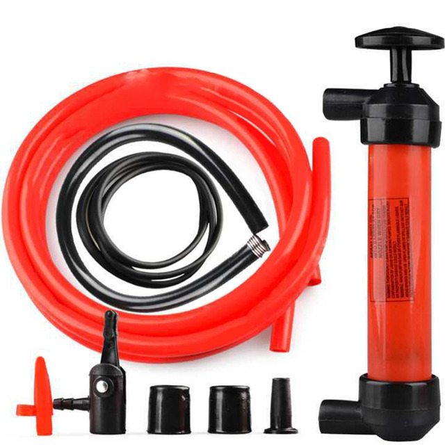 VODOOL 1pc Portable Manual Oil Pump Hand Siphon Tube Car Hose Liquid Gas Transfer Sucker Suction High Quality Inflatable Pump
