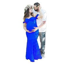 Flying Sleeve Lace Maternity Dresses