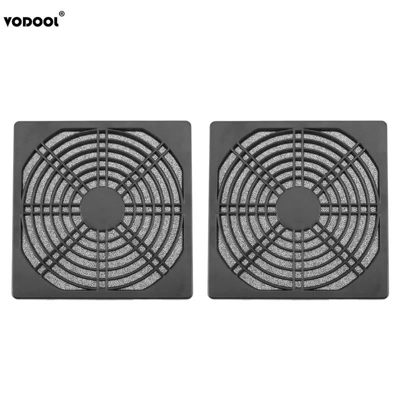 2pcs Dustproof 120mm PC Case Fan Dust Filter Guard Grill Protector Cover Plastic Computer Cooling Fan Cooler Radiator Cover Net 2018 new hot 3pcs 140 120mm size computer pc case cooling fan magnetic dust filter dustproof mesh fan cover net guard 12cm 14cm