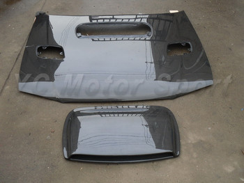 אבזרים לרכב סיבי פחמן בסגנון OEM הוד מצנפת Fit עבור 1996-2001 אימפרזה WRX 6th פתחי אוורור מכסה המנוע עם OEM