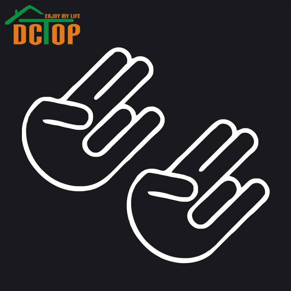 Sticker designs for car - The Shocker Car Vinyl Window Decal Sticker Import Hand Logo Symbol Decals New Design China
