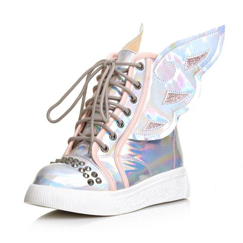 Silver High Top Tennis Shoes Women