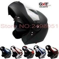 2017 New GXT Undrape Face Motorcycle Helmet Anti Fog Double Lens Flip Up Motorbike Helmets Full