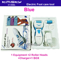 Blue charged  pedicure electric tools Foot Care Exfoliating Foot Care Tool 2ps roller pedicure heads scholls KIMISKY and Package