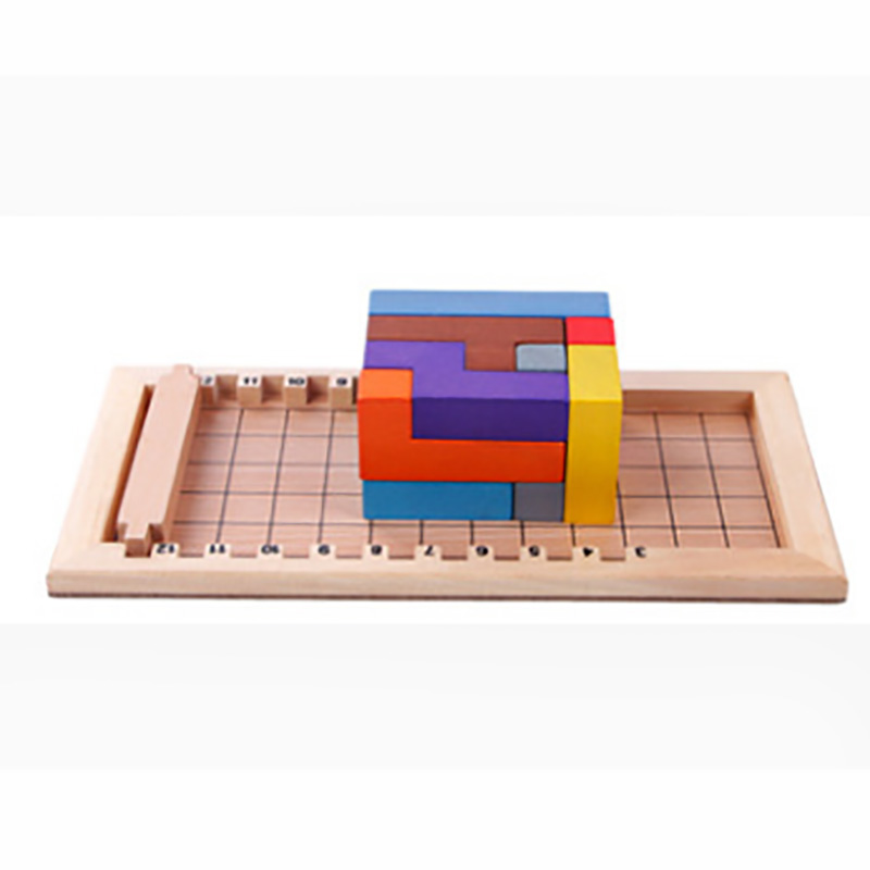Katamino Puzzle Board Game 12 PCS Colorful Wooden Family/Party nteresting Cards Game Entertainment