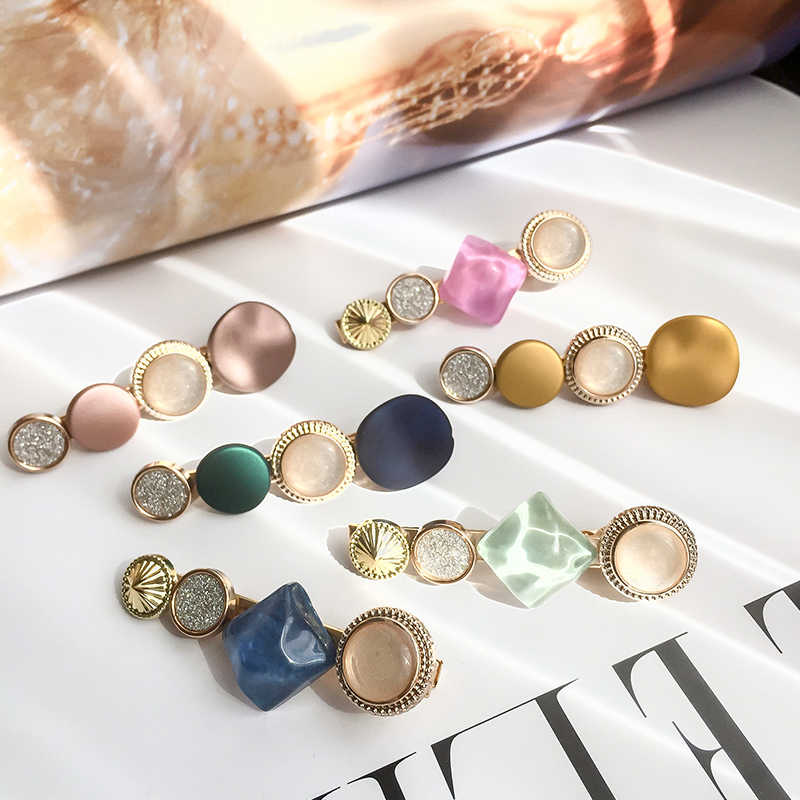 2019 Fashion M MISM Hair Clips For Women Fashion Sweet Girl Simple Korean Style Hairpins Alloy BB Handmade INS Hair Accessories
