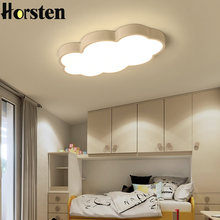 Horsten Clouds Modern Led Ceiling Lights For Bedroom Study Room Children Room Kids Room Home Deco White Pink Blue Ceiling Lamp(China)