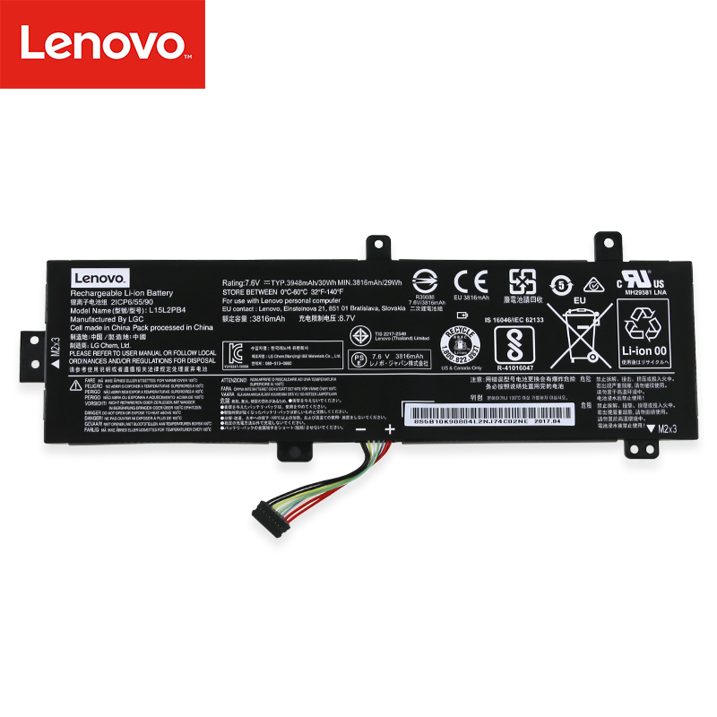 Original Laptop Battery For Lenovo IdeaPad 310-15ISK 310 Series 7.6V 30Wh 3816mAh L15L2PB4