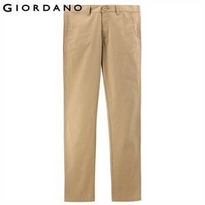Image 2 - Giordano Men Pants Men Khaki Pantalon Homme Slim Pants Men Quality Trousers Men Cotton Business Casual Modern Pantalones Hombre