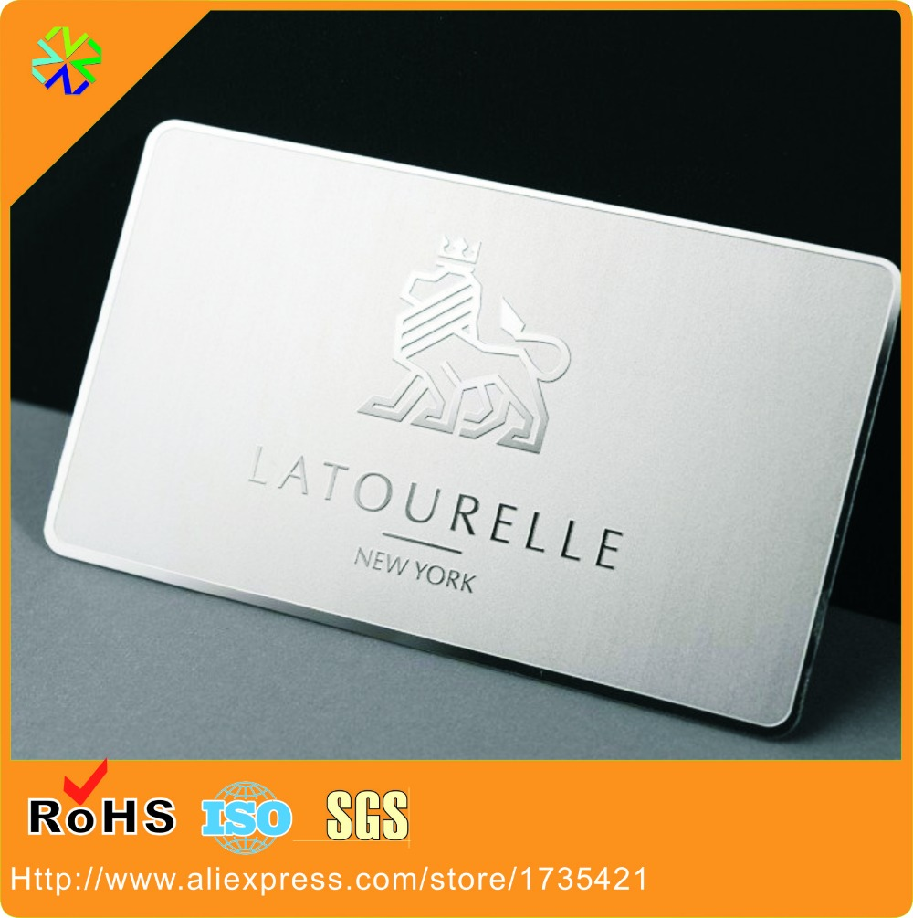 Personalized Metal Business Card Mirror Matt Finish Plating Custom Gift Card