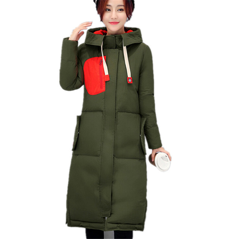 Winter Women Jacket 2016 Slim Long Hooded Down Cotton Jackets Parkas Thick Warm Female Cotton Padded Winter Coats Outwear W036 casual 2016 winter jacket for boys warm jackets coats outerwears thick hooded down cotton jackets for children boy winter parkas
