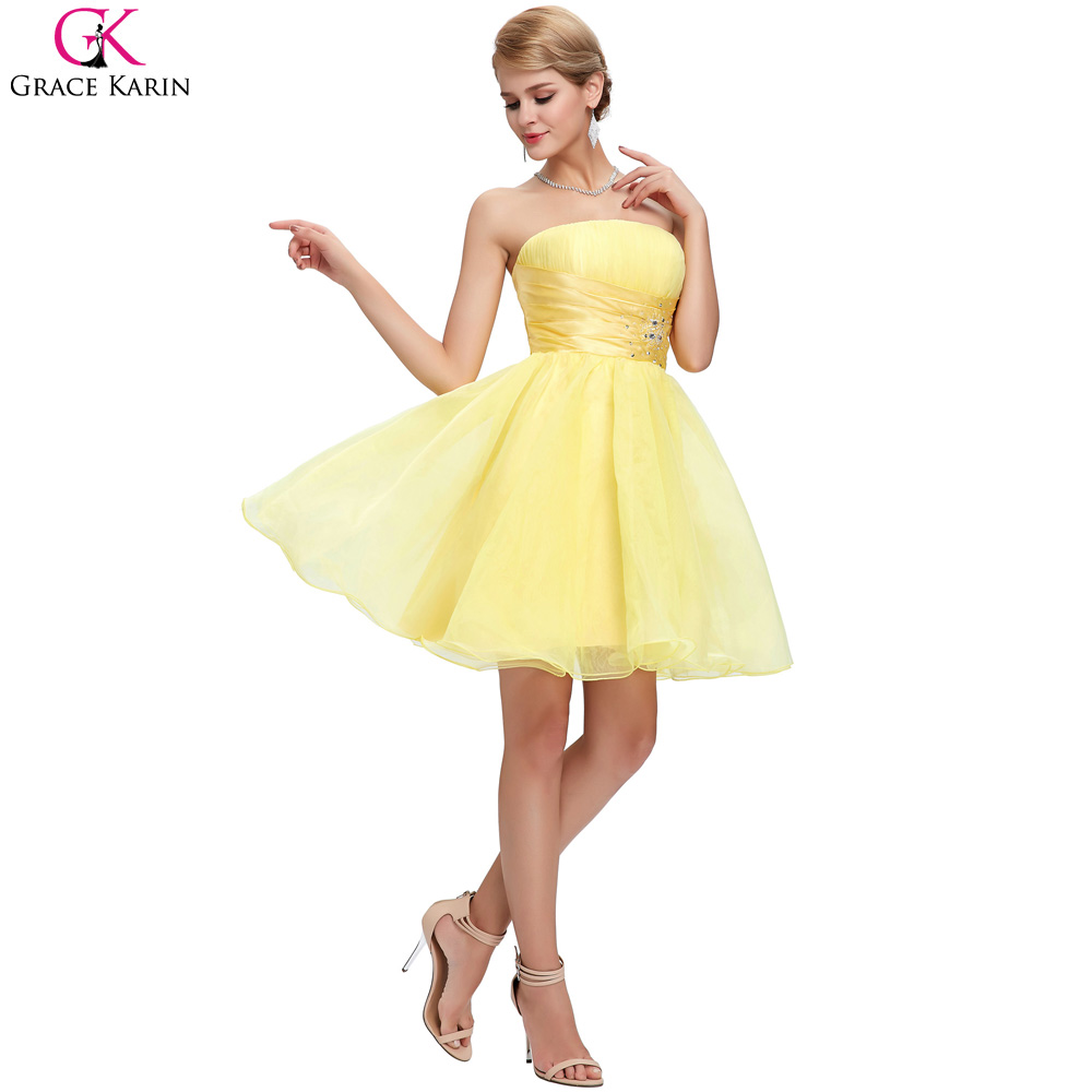 Aliexpress.com  Buy Short Prom Dresses 2017 Robes Grace Karin Black White  Blue Yellow Off Shoulder Formal Ball Gowns Event Dinner Pretty Party Dress  from