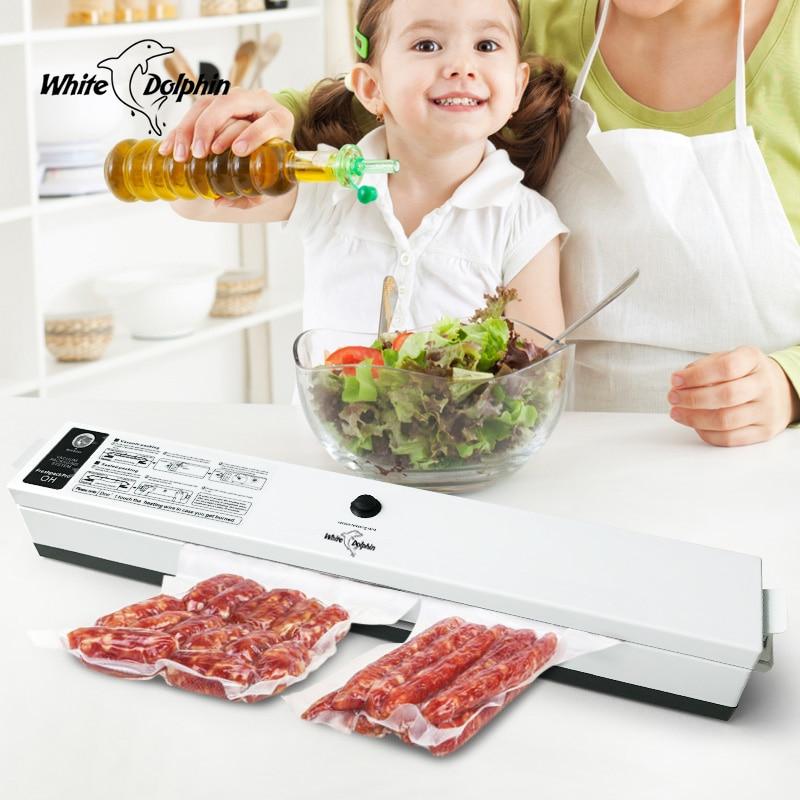 Kitchen Food Packaging Machine Vacuum Sealer Packer With 15pcs Saver Storage Bags 110V 220V Home Electric Vacuum Food Sealer