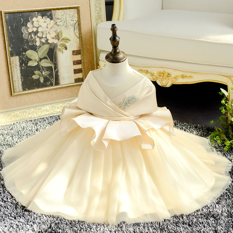 1-10 Years   Flower     Girl     Dresses   for Wedding Big Bowknot Princess Evening Gowns Ball Gown Kids Pageant   Dress   for Birthday Costume