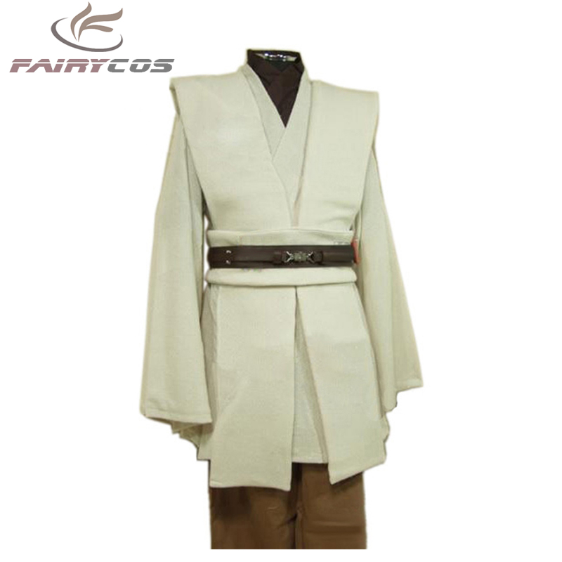 Star Wars Cosplay Obi-Wan Kenobi Jedi Costume TUNIC Adult Men Jedi Tunic Cloak Cosplay Halloween Carnival Cosplay Costumes