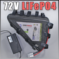 72 V треугольник LiFePO4 аккумулятор для электрического скутера Ebike батарея длительный жизненный цикл
