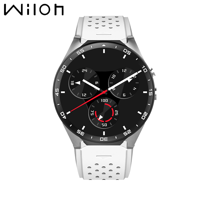 Original kingwear KW88 3G Smart watch Android 5.1 OS, Quad Core support 2.0MP Bluetooth SIM Card WiFi GPS Heart Rate Monitor kw88 smart watch android 5 1 os quad core 400 400 smartwatch mtk6580 support 3g wifi nano sim card gps heart rate wristwatch