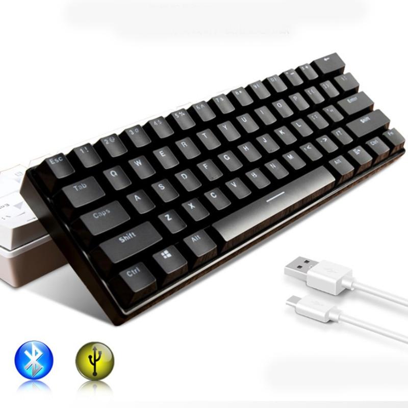 Clavier mécanique Bluetooth pour tablette téléphone Mac ordinateur clavier Bluetooth RGB rétro-éclairé