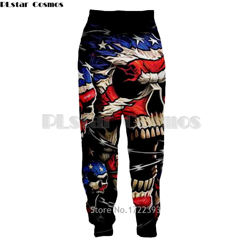 PLstar Cosmos New Fashion Great USA Eagle and Flag 3d Printed Pant Mens Long Pants Hip Hop Trousers Male Casual Baggy Jogger