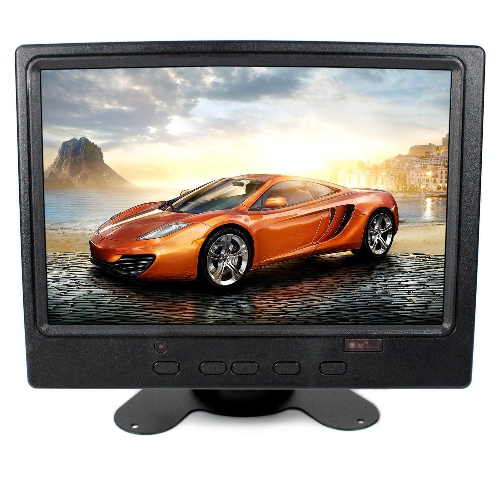 7 colių 1280x800 IPS LCD monitorius su HDMI + VGA + AV įvesties signalo US kištukinio maitinimo adapteriu