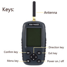 Newest Smart Portable Fish Finder FF998 Rechargeable Sonar Fish Finder Wireless125KHz Sonar Sensor Wireless Fishfinder