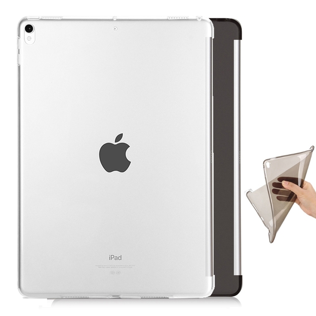 separation shoes 55576 9185e US $6.93 25% OFF|Clear tpu protective silicone case for apple ipad pro 10.5  smart cover keyboard Partner soft flexible bottom back case skin shel-in ...