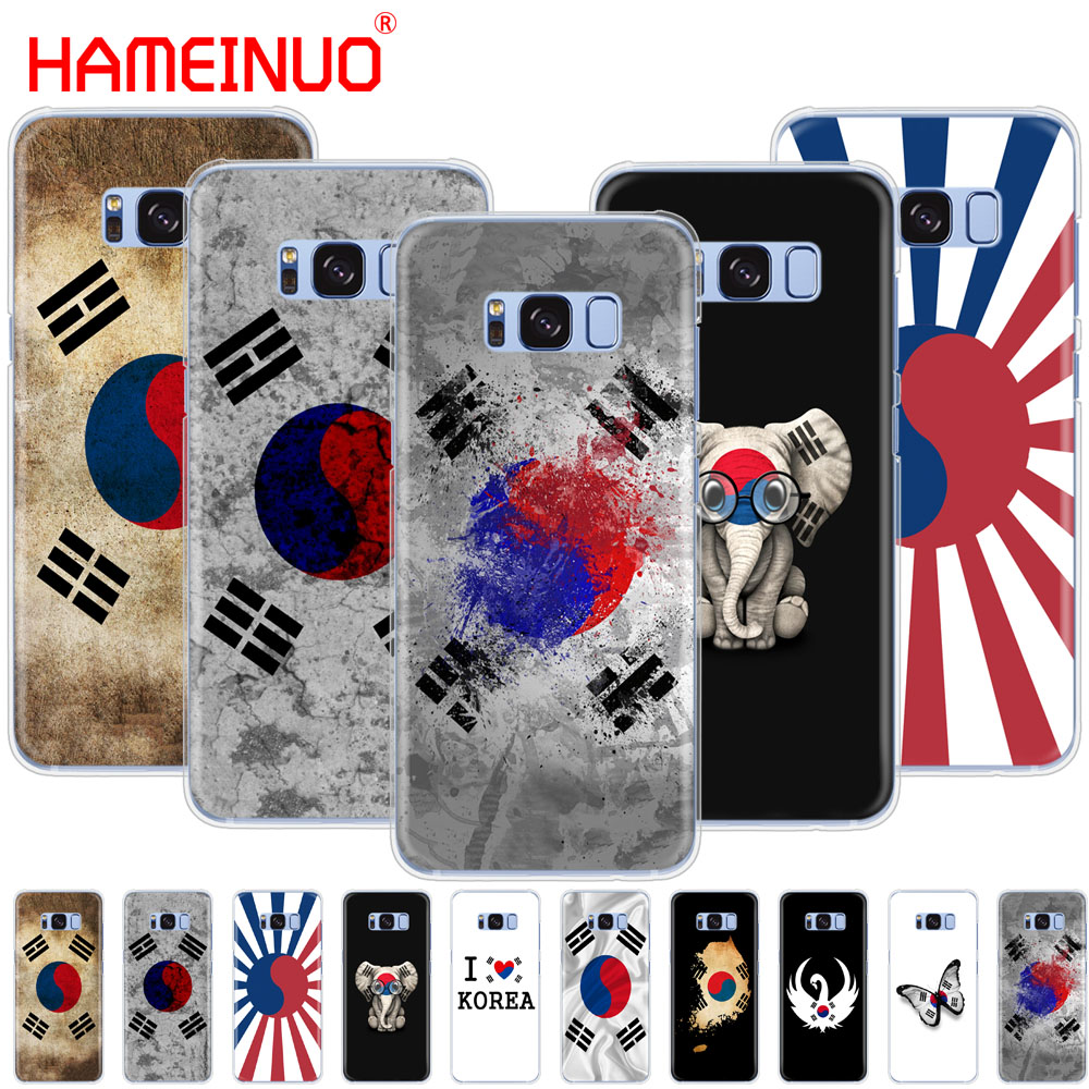 HAMEINUO <font><b>Korean</b></font> Flag cell phone <font><b>case</b></font> cover for <font><b>Samsung</b></font> Galaxy <font><b>S9</b></font> S7 edge PLUS S8 S6 S5 S4 S3 MINI image