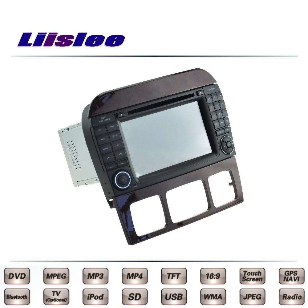 For Mercedes Benz S W220 1998-2006 Car Multimedia TV DVD GPS Original Style Navigation Liislee Advanced Navi