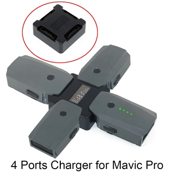 4 in1 Battery Steward Charger Parallel Charging Hub for DJI Mavic Pro Platinum Snow Drone Charging Station with Digital Display 2